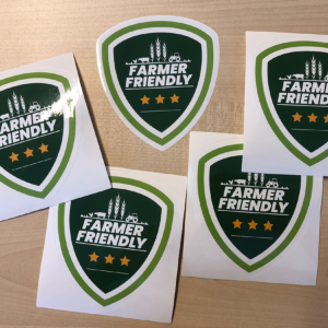 Farmer Friendly sticker