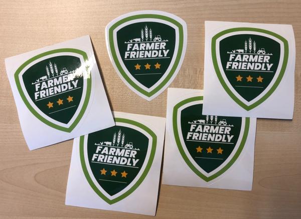 Farmer Friendly sticker